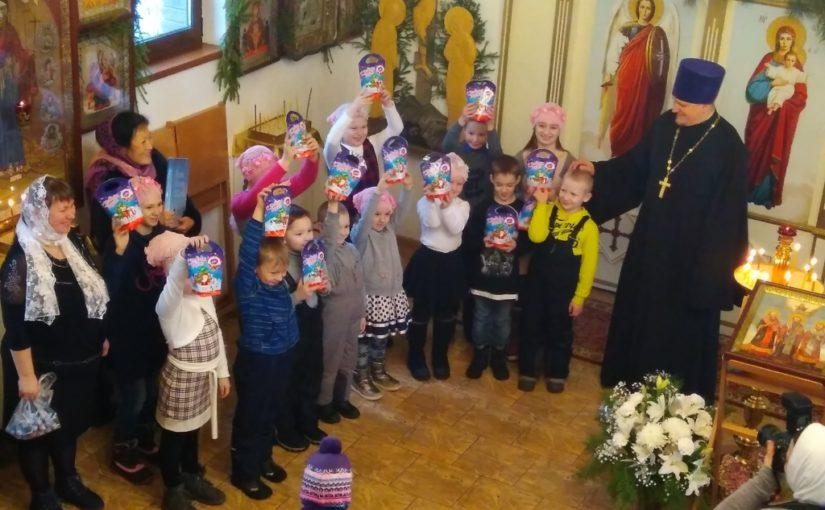 Рождественское поздравление ребят из воскресной школы